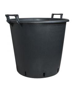 GELI - műanyag virágtartó dézsa (Ø40cm, fekete)