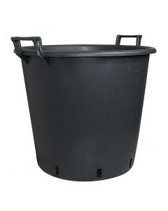 GELI - műanyag virágtartó dézsa (Ø50cm, fekete)
