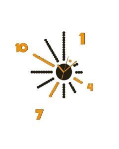 CREARREDA - szivacsdekor (sárga-fekete falióra, 24x34cm)
