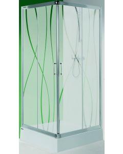 SANPLAST KN/TX5-90 - zuhanykabin (szögletes, 90x90x190cm)