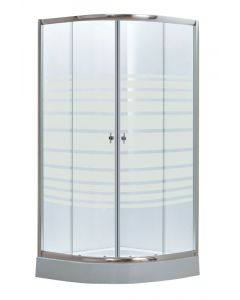 STRIP - zuhanykabin tálcával (íves, 80x80x194cm)