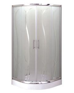 BAMBOO - zuhanykabin tálcával (íves, 90x90cm)