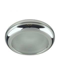 LUXERA - beépíthető spotlámpa (GU10, króm-kristály, fényes keret)