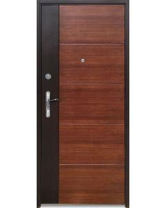 DUO - fém bejárati ajtó 97x205 balos (aranytölgy, dió)