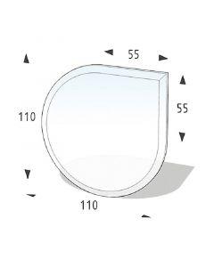 LIENBACHER - üveg kandallóalátét (110x110cm, csepp)