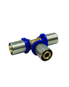 GOSHE PRESS U-TH - T-idom ötrétegű csőhöz (20-16-16mm)
