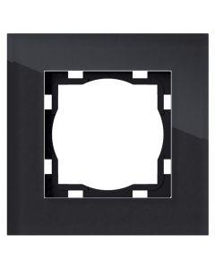 ELEKTROMATERIAL ART100 - 1-es keret (üveg, fekete)