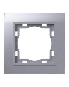 ELEKTROMATERIAL ART200 - 1-es keret (műanyag, ezüst)