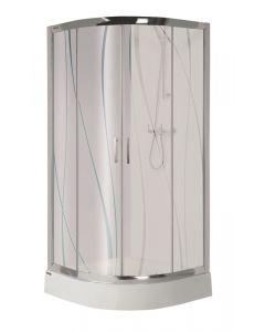 SANPLAST KP4/TX5 - zuhanykabin tálcával (íves, 80x80x190cm)