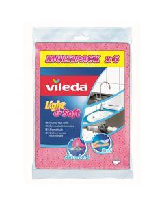 VILEDA LIGHT&SOFT - eldobható törlőkendő (6db)