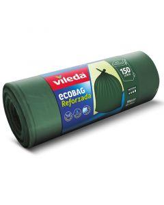 VILEDA - zárószalagos szemeteszsák (150L, zöld, 10db)
