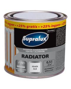 SUPRALUX RADIATOR - zománcfesték - fehér (selyemmatt) 0,5L