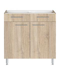 LEVENTE - konyhabútor alsószekrény (84x80x50cm, 2 ajtós, 2 fiókos)