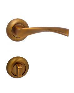 MAESTRO GALAXY - rozettás ajtókilincs (WC, bronz)