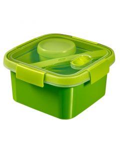 CURVER SMART TO GO - ételtartó (szögletes, 1,1L, zöld)
