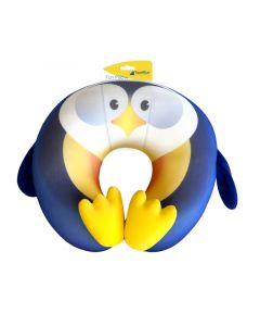 TRAVEL BLUE FUN PILLOW - gyerek utazópárna (pingvin)