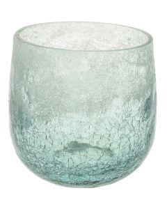 Mécsestartó (üveg, türkiz, 8cm)