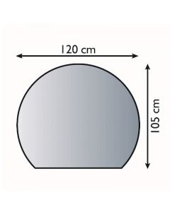 LIENBACHER - üveg kandallóalátét (105x120cm, félkör)