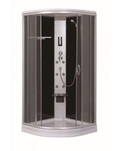 SANOTECHNIK TR70 - hidromasszázs zuhanykabin (90x90x209cm, íves)