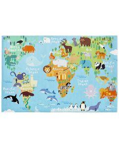 KIDS CLUB TORINO - gyerekszőnyeg (120x170cm, világtérkép)