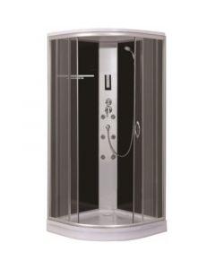 SANOTECHNIK BH1171 - hidromasszázs zuhanykabin (100x100x209cm, íves)