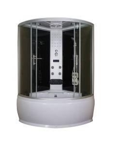 SANOTECHNIK CUBA TR25 - hidromasszázs zuhanykabin (130x130x228cm, íves)