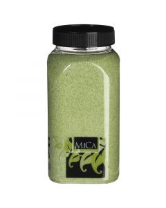 MICA DECORATIONS - dekorhomok (lime, 1kg)