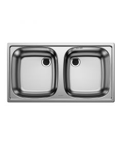 BLANCO TOP ED 8x4 - kétmedencés mosogatótálca (króm)