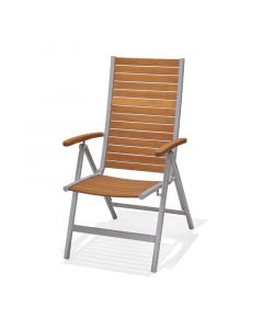 SUNFUN VERA - kerti szék (natúr, pozicionálható)