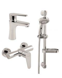 FERRO FRESH 3IN1 - mosdó és zuhany csaptelep zuhanyszettel