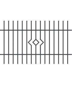 POLARGOS LILA - kerítéselem (200x145cm)
