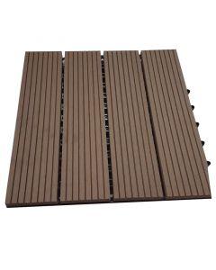 BAMBUS PARKET - WPC kültéri csempe (barna, 30x30x2,2cm, 11db)