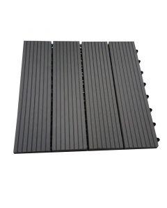 BAMBUS PARKET - WPC kültéri csempe (antracit, 30x30x2,2cm, 11db)