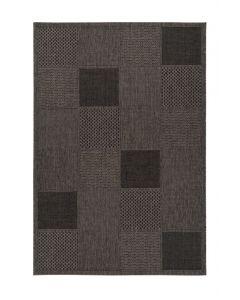 SUNSET - kültéri szőnyeg (80x150cm, szürkésbarna, kockás)