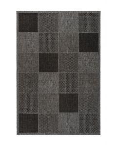 SUNSET - kültéri szőnyeg (120x170cm, szürkésbarna, kockás)