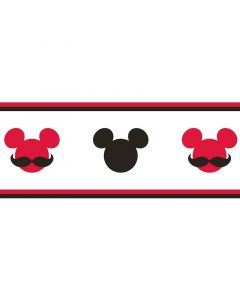 Bordűr (Disney Mickey piros-fekete)