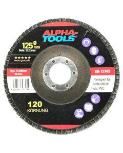 ALPHA TOOLS - lamellás csiszolókorongszett (125mm, K40,K60,K80,K100,K120)
