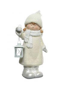 Mécsestartó figura (angyalka lámpással, 45cm, 2féle)