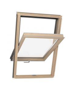 SOLID THERMO - tetőtéri ablak (3 rétegű, fa, 66x118cm)