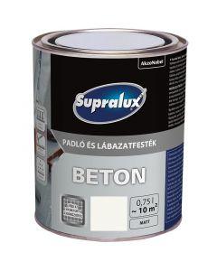 SUPRALUX BETON - padló- és lábazatfesték - fehér 0,75L