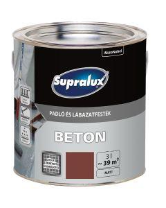 SUPRALUX BETON - padló- és lábazatfesték - téglavörös 3L