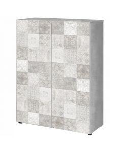 FORÉS HABITAT STAR PLUS - cipőtartó szekrény (103x78x36cm, beton-dekor)