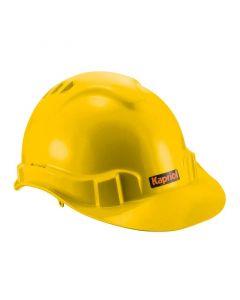 KAPRIOL - védősisak (szövetbéléssel, sárga)