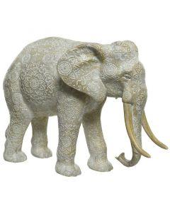 Dekorfigura (elefánt, 12x25x18cm)