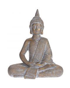Kerti dekorfigura (Buddha, 37cm, antik arany)