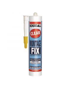 SOUDAL MONTAGE FIX CLEAR - szerelőragasztó (átlátszó, 280ml)