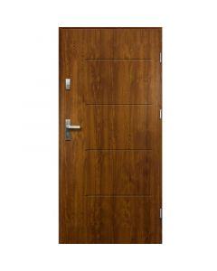TYTAN - fém bejárati ajtó (100x207, jobbos, aranytölgy)