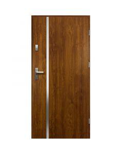 HEBE - fém bejárati ajtó (100x207, jobbos, aranytölgy)
