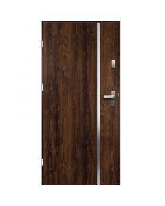 HEBE - fém bejárati ajtó (100x207, balos, dió)