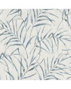 A.S. CREATION GREENERY - tapéta (levelek, kék-fehér)